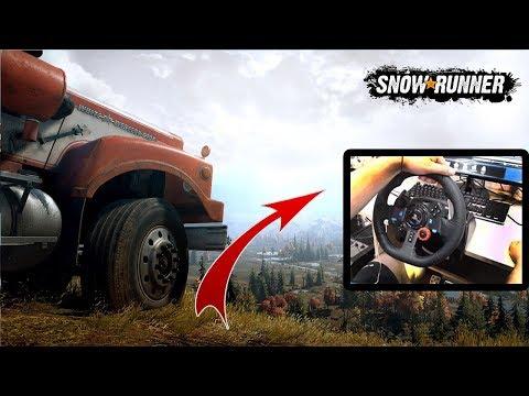 SnowRunner 💥 ПРОХОЖДЕНИЕ НА 100%💥 Обзор 3 часть / Руль Logitech G29
