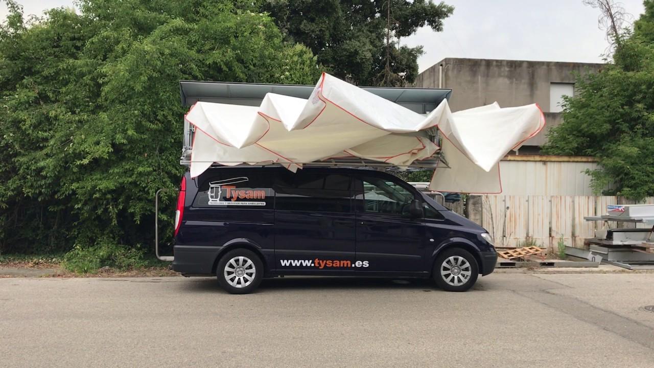 Tenda per ambulanti automatica modello europlus youtube