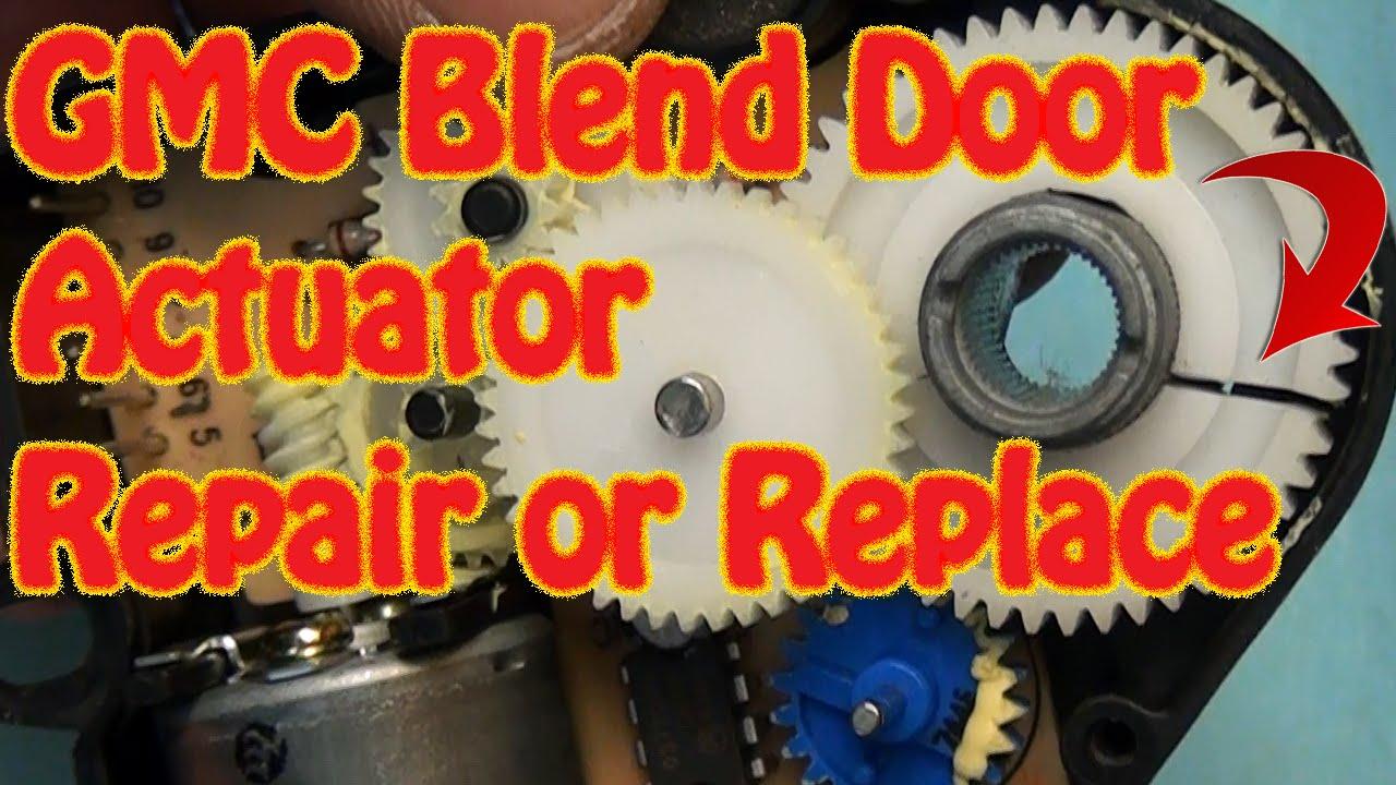medium resolution of gmc chevy blend door actuator repair replacement fix constant heat cracked gear j b weld repair youtube