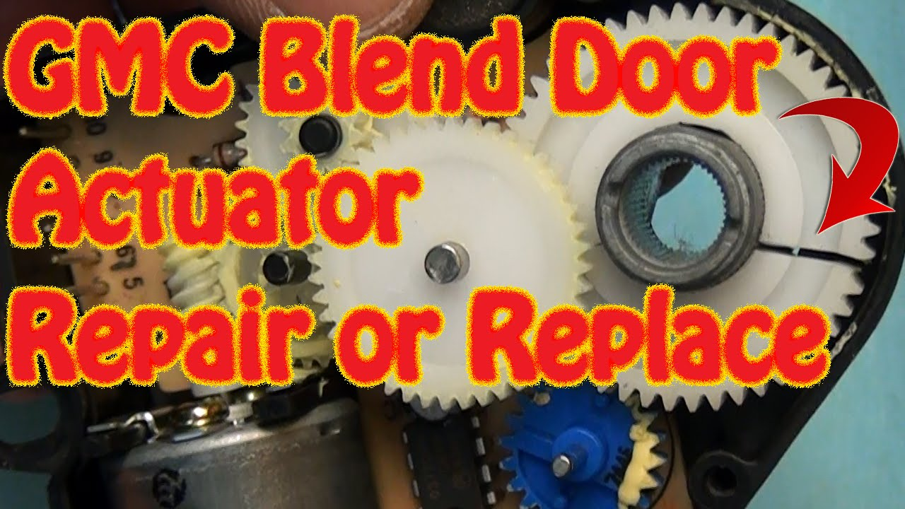 small resolution of gmc chevy blend door actuator repair replacement fix constant heat cracked gear j b weld repair youtube