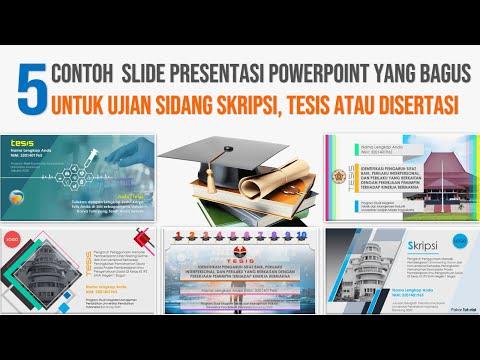 Contoh Presentasi PowerPoint yang Bagus untuk Sidang Skripsi Tesis Diser...