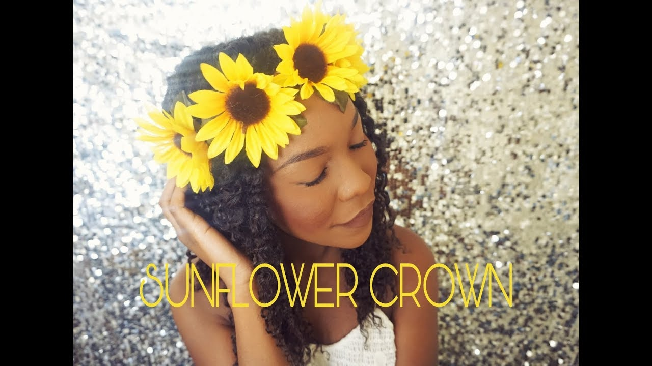 Diy Sunflower Crown 3 Minute Quick And Easy Tutorial Girly