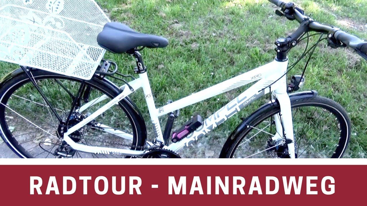 Kleine Radtour 42 Km Mainradweg Von Frankfurt Nach Mainz Youtube