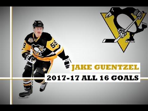 Jake Guentzel (#59) ● ALL 16 Goals 2016-17 Season (HD)