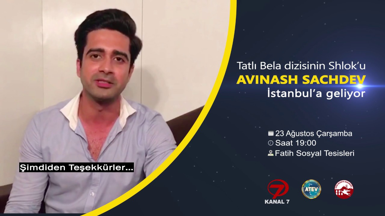 Avinash Sachdev Türkiye'de hayranlarıyla buluşuyor