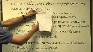 1: Math Proficiency Review - Test Taking Strategies