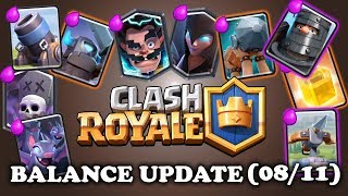 New Balance Update 08/11 | Clash Royale | X-Bow/Mortar Buff!