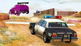 BeamNG Drive Spike Strip High Speed Crashes #22