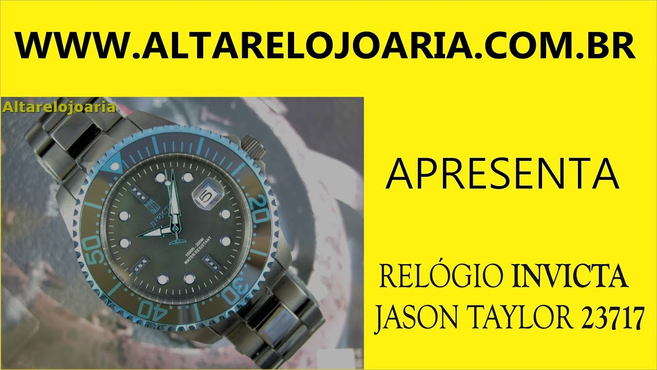 Relógio Invicta Jason TaylorJason Taylor Jason Taylor C  9 D I A M A N T E  S ref 23717 7bfe07b303