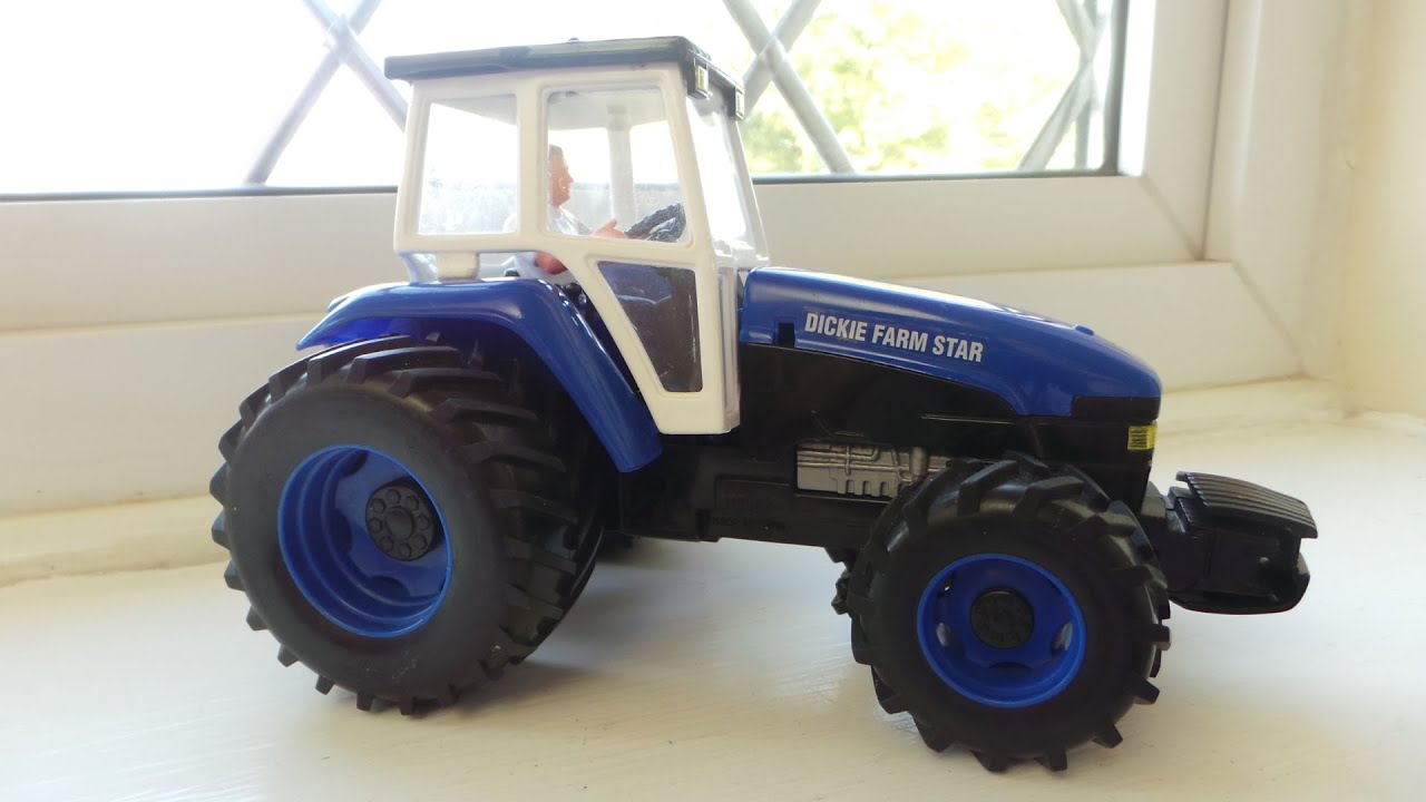 simba dickie toys blue ford friction motor farm tractor toy youtube