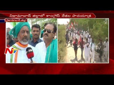 T Congress Leaders Padayatra over Nizam Deccan Sugar Factory in Nizamabad District || NTV