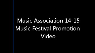 Holy Trinity College Music Association Music Festival Promotion Video