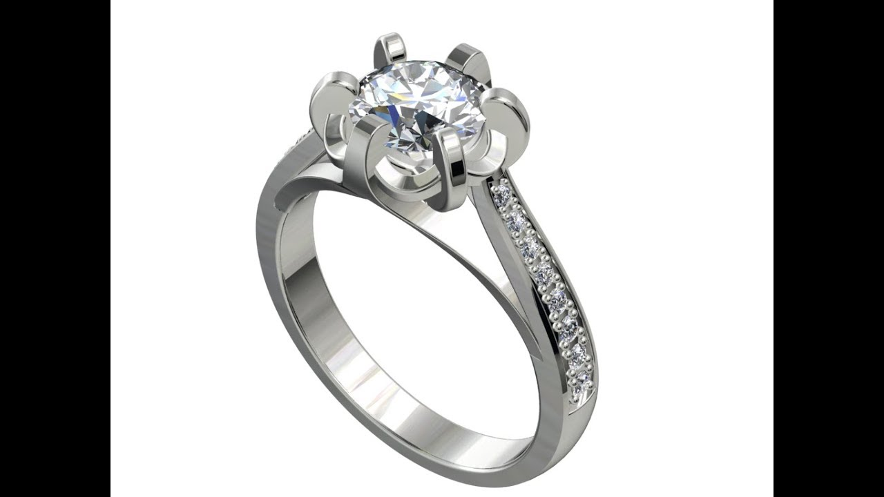 Jewelry Digital Able File Engagement Ring Stl Format For Jewelers Cc4
