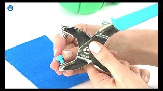 How to use Dritz Eyelet Pliers