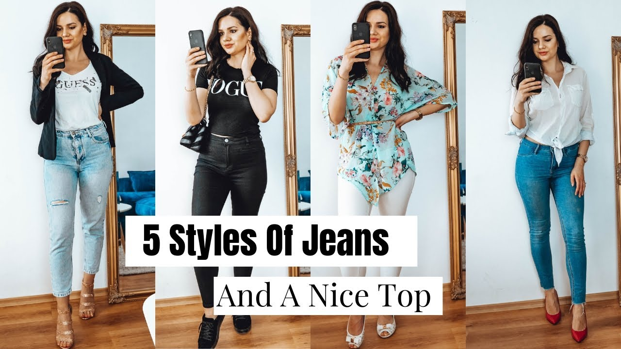 JEANS AND A NICE TOP OUTFIT IDEAS 2019| HOW TO STYLE JEANS 5