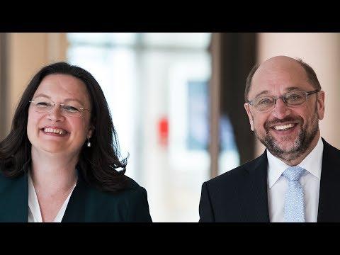 Andrea Nahles & Martin Schulz: So geht gute Rente | Pressekonferenz