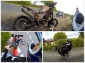 Piaggio Ciao+Ktm exc Wheelies+Police+burnedSM+Crash