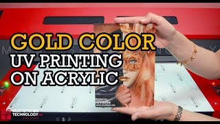 Gold Color Printing On Acrylic with UV LED Printer