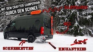 Mit dem Crafter Campervan durch den Schnee - Winterreifen, Schneeketten im Einsatz // FREUNDSHIP