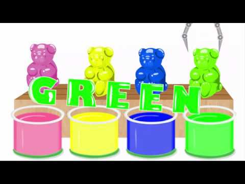 Colors for Children to Learn with CANDY BEARS Nursery Rhymes