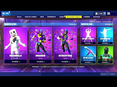 BOUTIQUE FORTNITE du 2 Fevrier 2019 ! ITEM SHOP February 2 2019 !
