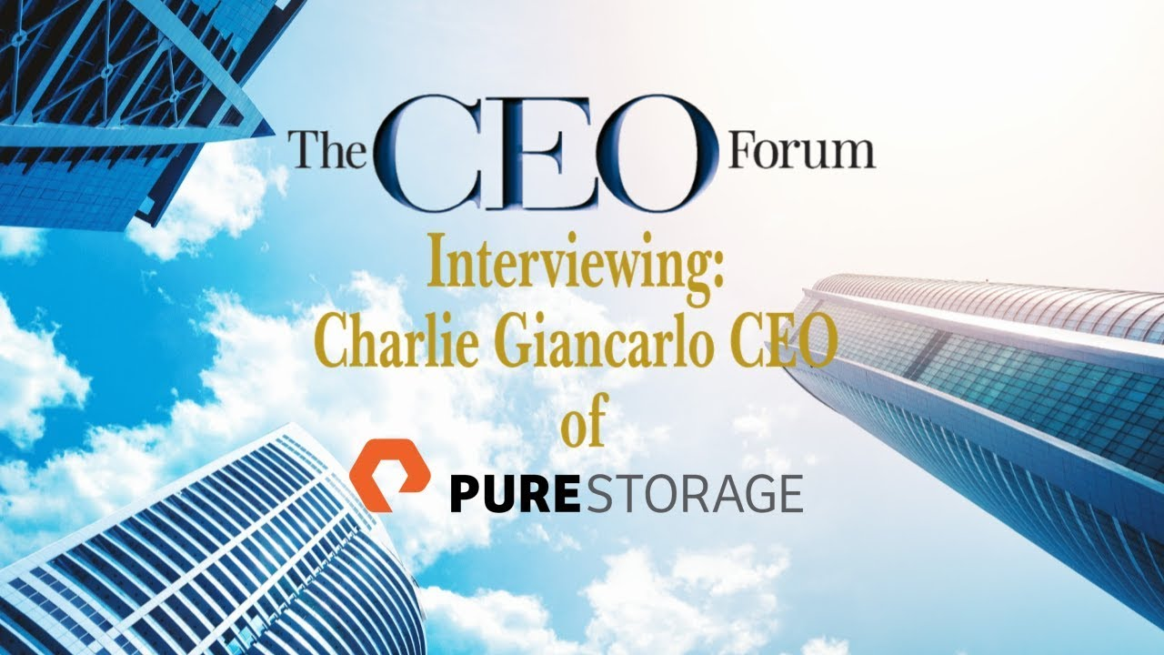 Video: Charlie Giancarlo CEO of Pure Storage, What is the