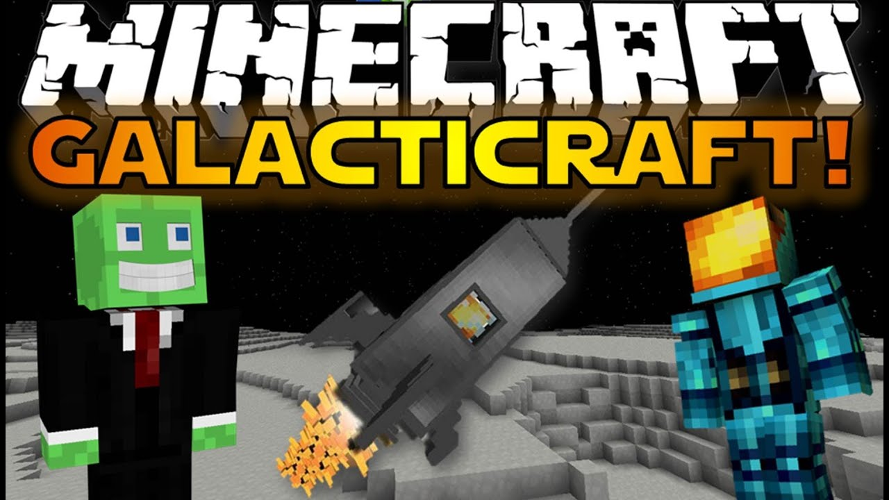 Minecraft Mods: GALACTICRAFT! - Build A Rocket & Go To The ...