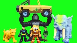 PBS Kids Wild Kratts Martin Kratt saved by Imaginext Nightwing Batman Superheroes Just4fun290