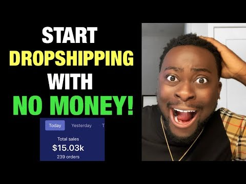 How to start Dropshipping WITH NO MONEY on Shopify | 2019-2020 Strategy for beginners thumbnail