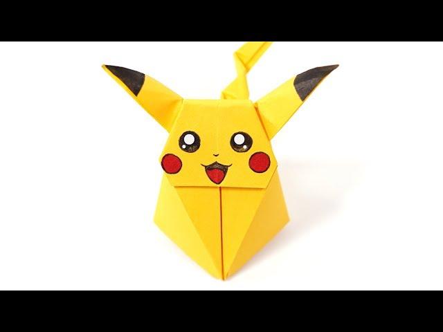 Origami Pikachu Pokemon (Ax&PaperKawaii) Paper Folding / Papier Falten / 종이접기 / Paper Crafts / おりがみ