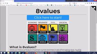 8 Values Test  - zweiter Versuch