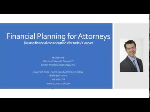 Tax and Financial Planning for Attorneys