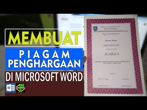 Cara Membuat Piagam Penghargaan Di  Microsoft Word