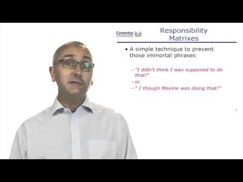 3.3 Responsibility Matrix