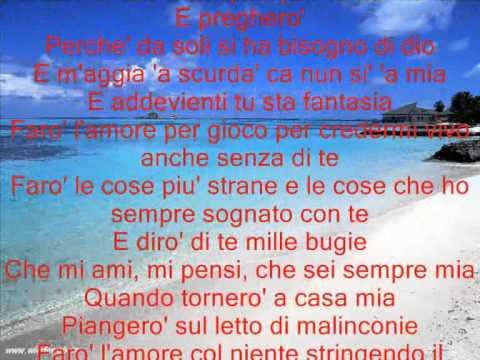 Nino D'Angelo - Fantasia Base Musicale Intera con testo