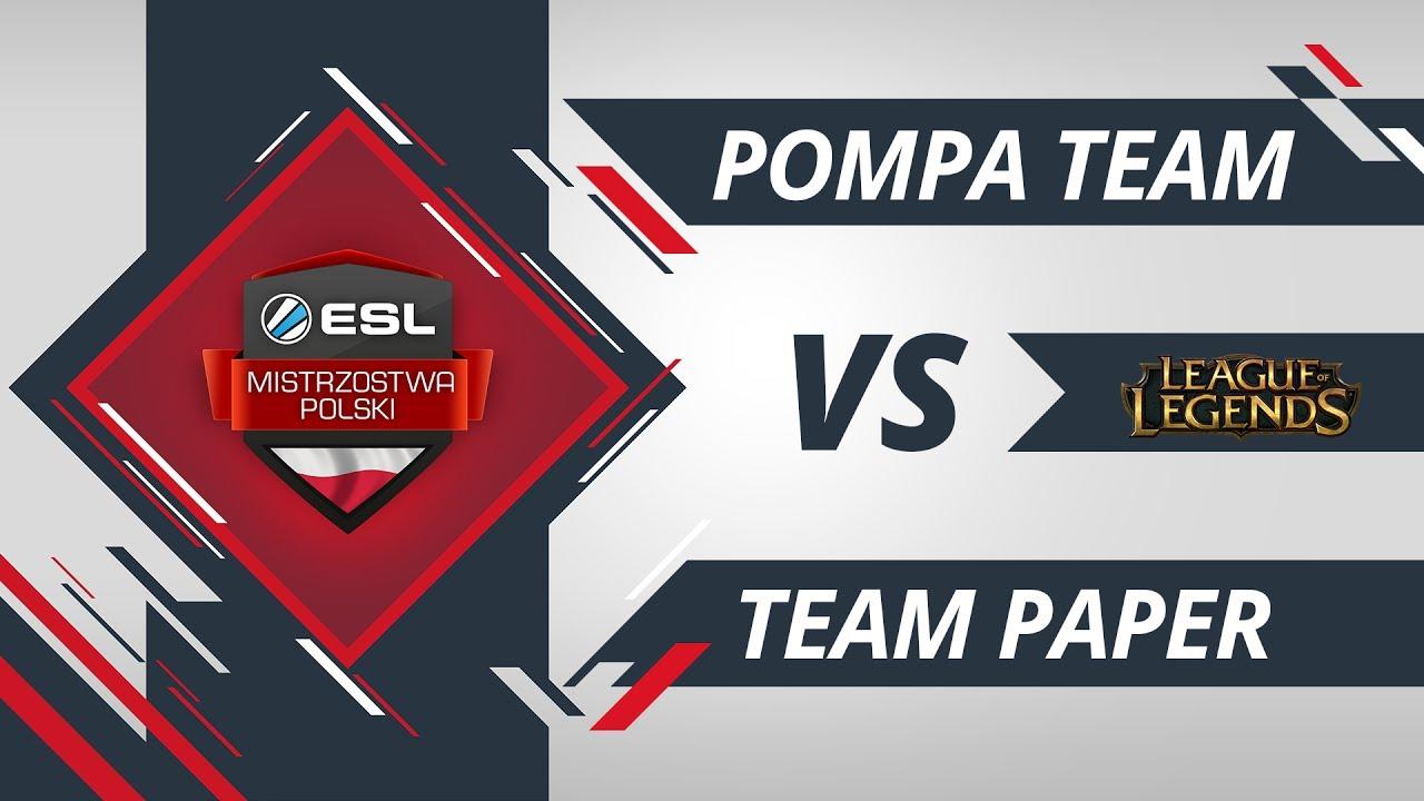 Pompa Team vs Team Paper | EMP LoL W1D2 Gra #1