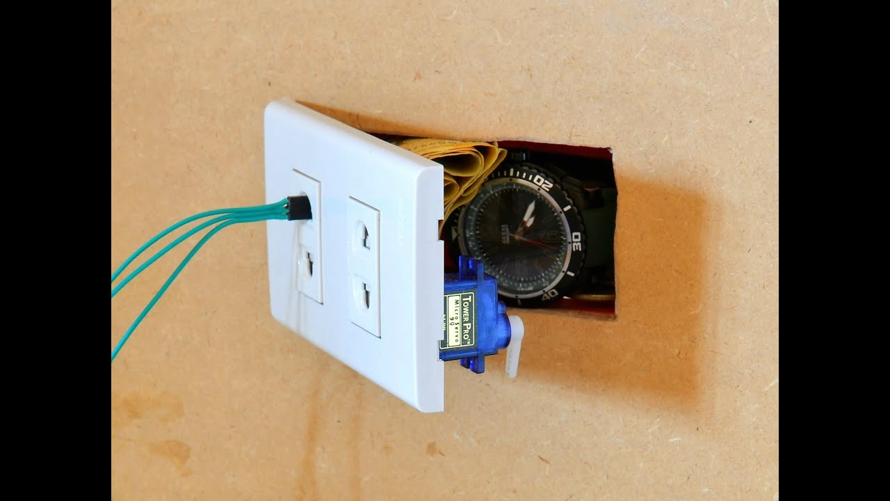 Wall Outlet Safe W Arduino Lock Youtube