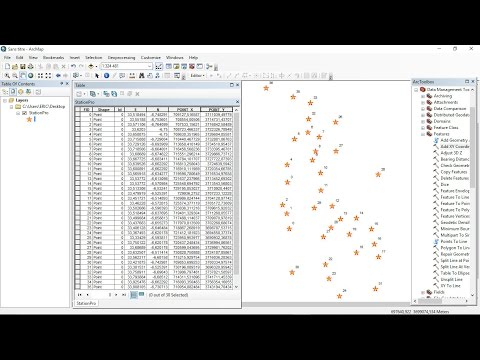 How to convert coordinate system of a set of points using ArcGis