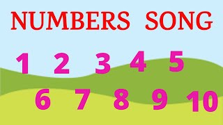 1 to 10 NUMBERS SONG | Kids Numbers song sing along | Educational Learning Numbers song