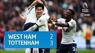 West Ham vs Tottenham (2-3) | Premier League Highlights