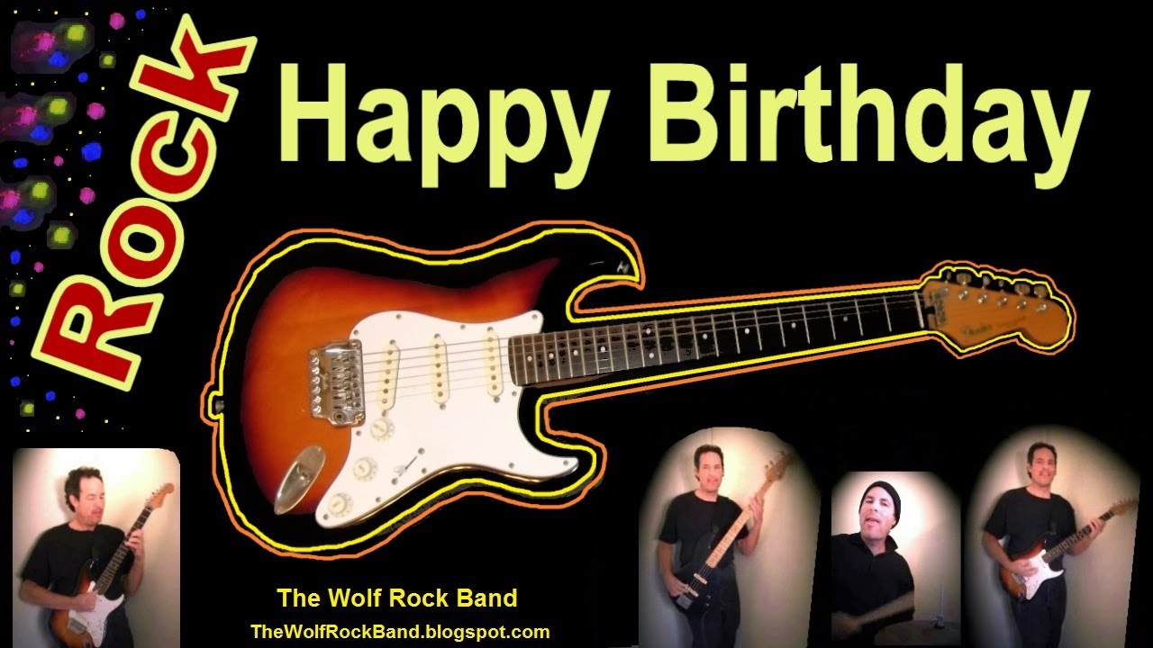 Happy Birthday Song Rock Version Birthday Card The Wolf