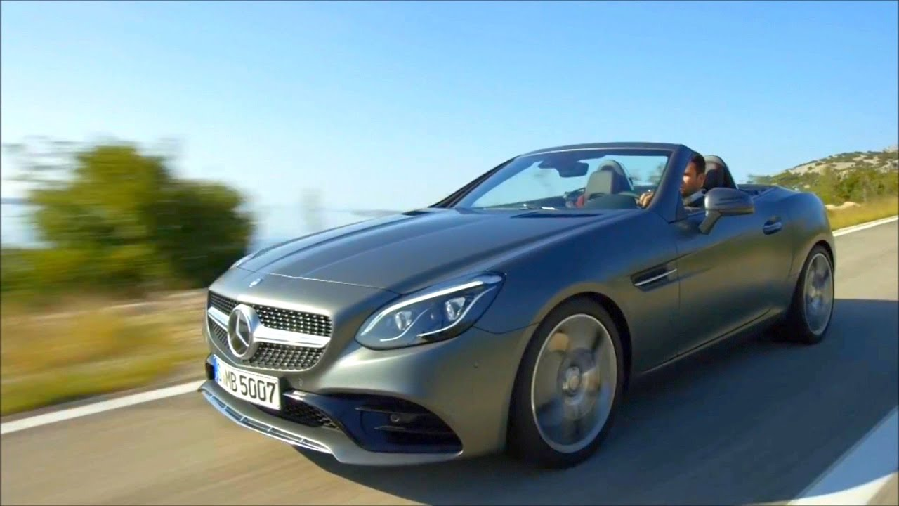 2017 mercedes benz slc 300 california blue road and interior trailer youtube