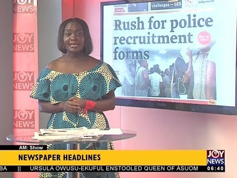 AM Show Newspaper Headlines on JoyNews (21-11-17)