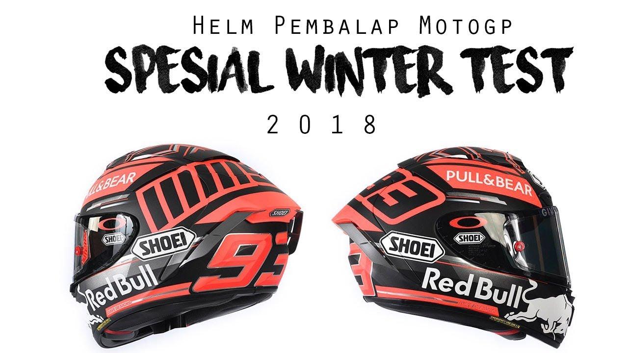 motogp 2018 helm helm pembalap spesial winter test 2018. Black Bedroom Furniture Sets. Home Design Ideas