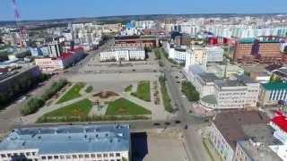 Полет DJI Inspire над центром г. Якутск - One flew over Yakutsk