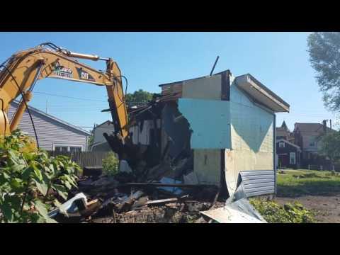Abandoned House Demolition In East Dayton, Ohio. Part 1