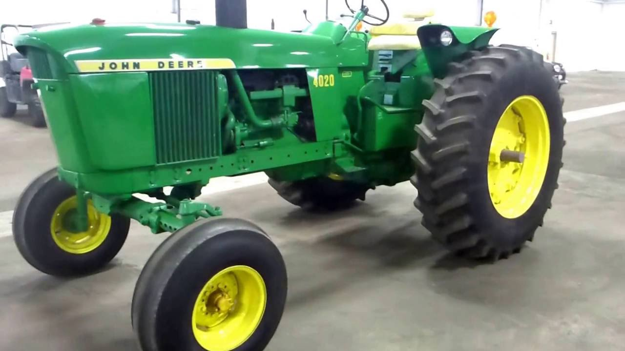 1972 John Deere Late Model 4020 Tractor With Side Console
