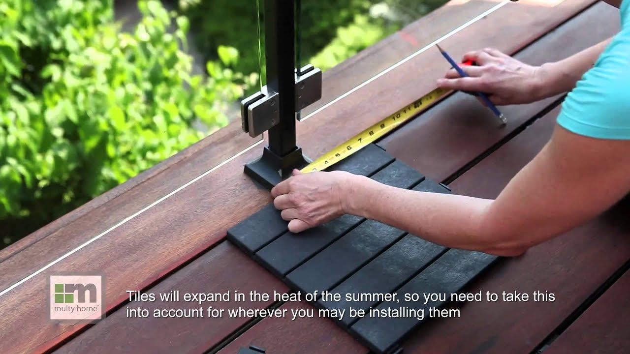 How To Install Easy Tile Deck