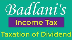 Income Tax : Taxation of Dividend