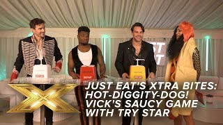 Hot-diggity-dog! Max tries to sabotage Vick's saucy game with Try Star  Just Eat's Xtra Bites